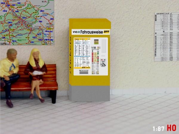 1:160 Bahnhof 2x Fahrkartenautomat DR Ticketautomat NDeutsche Reichsbahn