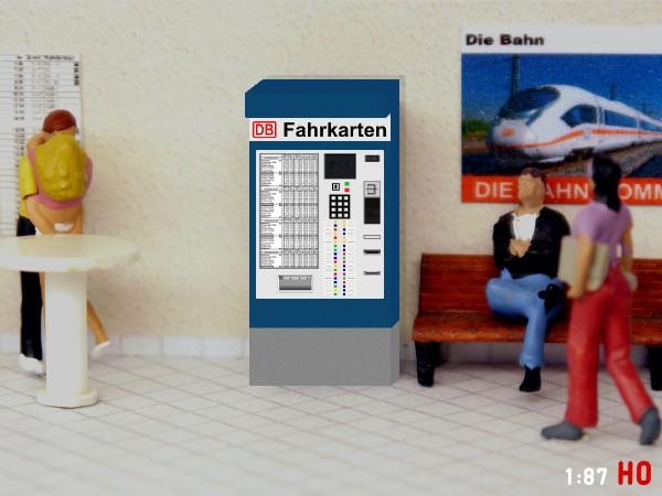 H0 Zigarettenautomat mit Ständer Epoche III Modellland 1603-8 1:87