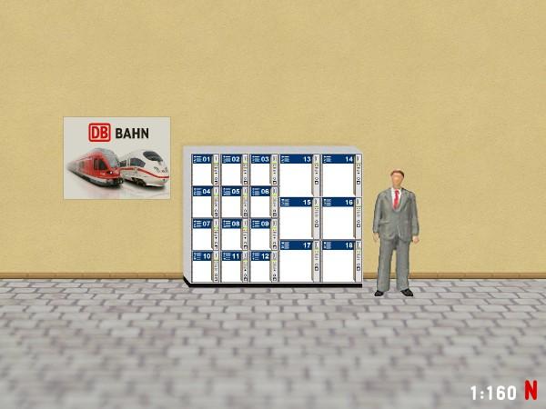 1:160 N Gepäckschliessfach Schliessfach DB Bahnhof Bahnsteig Modellland 2111-6