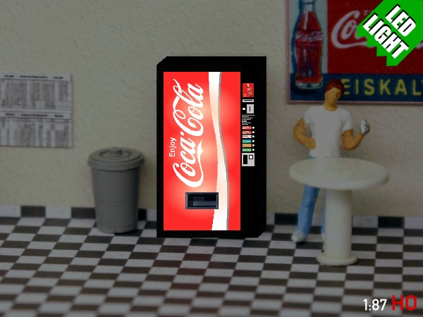 1 87 spur h0 coca cola getr nkeautomat beleuchtet vending machine illuminated. Black Bedroom Furniture Sets. Home Design Ideas