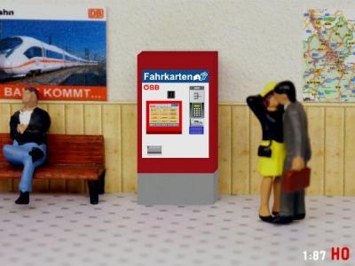 1/87 Track H0 ÖBB Ticket machine