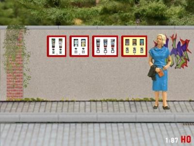 1:87 Spur H0 4x Kaugummiautomat