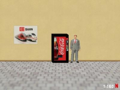 1:160 Spur N Coca Cola Getränkeautomat