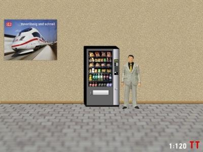 1/120 Track TT Snack vending machine