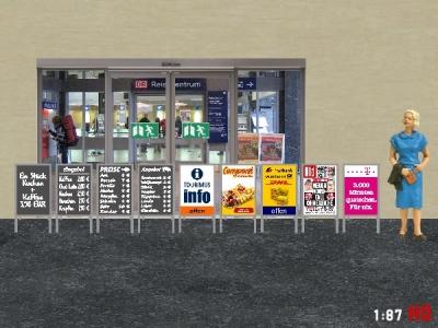 1/87 H0 Advertising display kit Epoch V