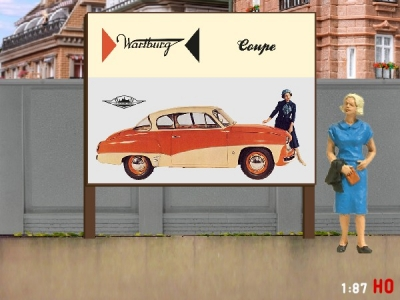 1:87 H0 Plakatwand Wartburg 311 Coupe