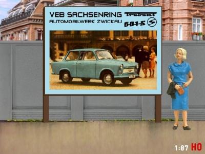 1:87 H0 Plakatwand Trabant 601 S