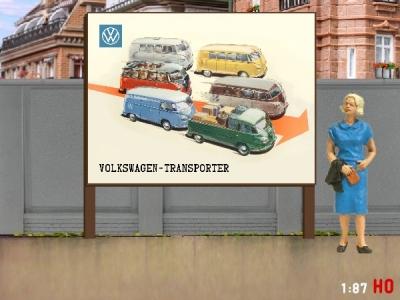 1:87 H0 Plakatwand VW T1