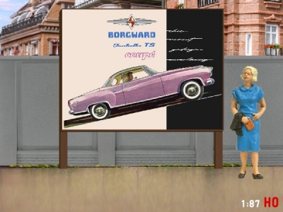 1:87 H0 Plakatwand Borgward Isabella Coupe