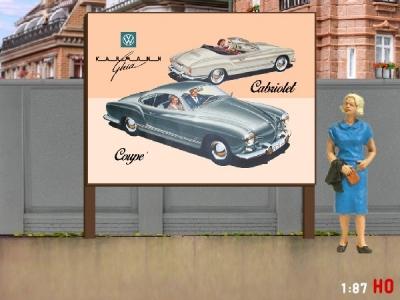 1:87 H0 Plakatwand VW Karmann Chia