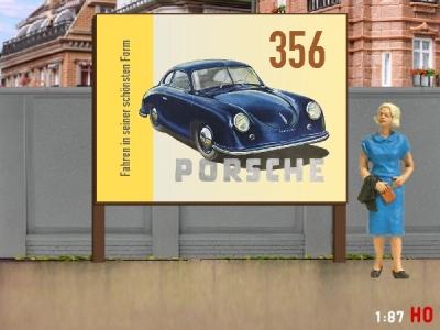 1:87 H0 Plakatwand Porsche 356