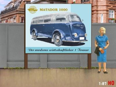 1:87 H0 Plakatwand Tempo Matador 1000