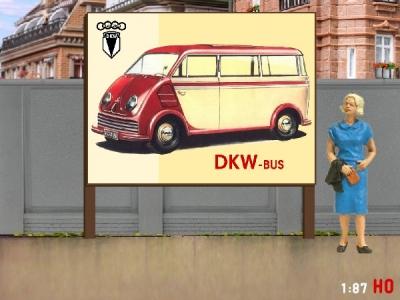 1:87 H0 Plakatwand DKW F 69 L