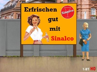 1:87 H0 Plakatwand Sinalco