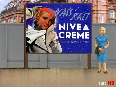 1:87 H0 Plakatwand NIVEA Creme