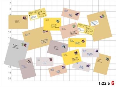1:22,5 Spur G Bausatz Briefe Versandtaschen