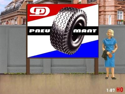1:87 H0 Plakatwand Pneumant