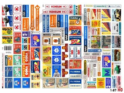1:87 Spur H0 Bausatz Werbeplakate DDR