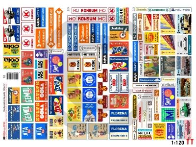 1:120 Spur TT Bausatz Werbeplakate DDR