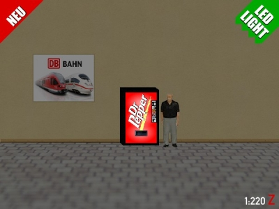 1:220 Spur Z LED 9V Dr Pepper Automat beleuchet