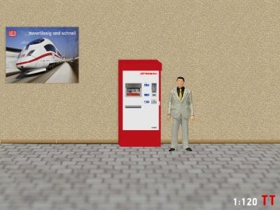 1:120 Spur TT RhB Fahrkartenautomaten