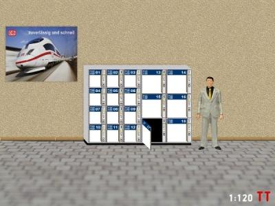 1:120 TT Gepäckschließfach mit offener Tür