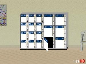 1/87 H0 luggage locker Locker with open door