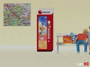 1/87 Track H0 RhB SBB Selecta Coffee vending machine