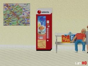 1:87 Spur H0 RhB SBB Selecta Kaffee Automat