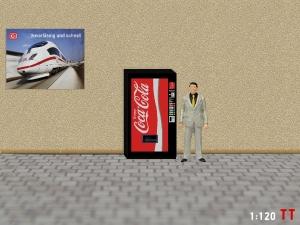 1:120 Spur TT Coca Cola Getränkeautomat