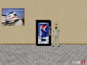 1:120 Spur TT Pepsi Cola Getränkeautomat