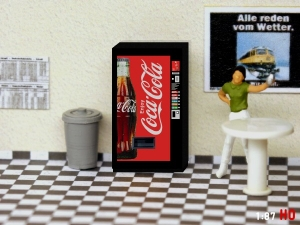 1/87 Track H0 Coca Cola vending machine