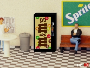 1/87 Track H0 M&M Snack vending machine