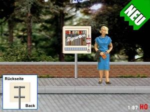 1:87 Spur H0 Zigarettenautomat mit Ständer