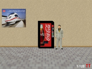 1/120 Track TT Coca Cola vending machine