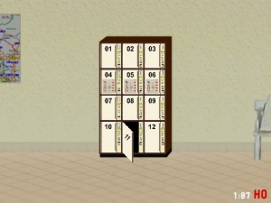 1:87 H0 DDR Gepäckschliessfach Schliessfach mit offener Tür