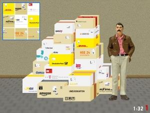 1:32 Spur 1 Bausatz Pakete Amazon Ebay DPD DHL GLS FedEX Hermes OTTO Zalando Quelle