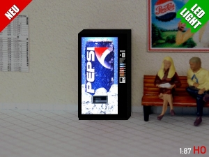 1:87 Spur H0 LED 9 - 12V Pepsi Cola Automat beleuchet