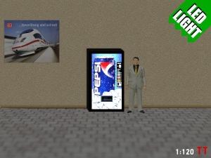 1:120 Spur TT LED 9 - 12V Pepsi Cola Automat beleuchet