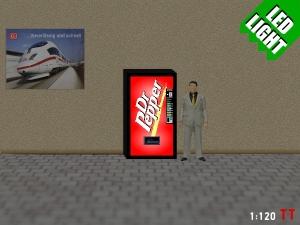 1:120 Spur TT LED 9 - 12V Dr Pepper Automat beleuchet