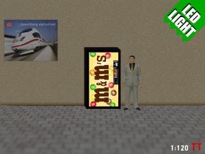 1:120 Spur TT LED 9 - 12V M&M Automat beleuchet