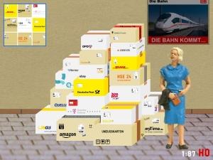 1:87 Spur H0 Bausatz Pakete Amazon Ebay DPD DHL GLS FedEX Hermes OTTO Zalando Quelle