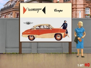 1/87 H0 Billboard Wartburg 311 Coupe