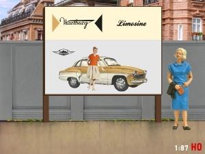 1/87 H0 Billboard Wartburg 311 Limosine