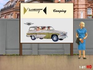 1/87 H0 Billboard Wartburg 311 Camping
