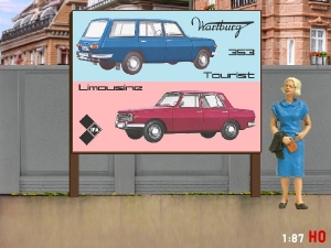 1/87 H0 Billboard Wartburg 353