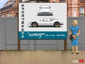 1/87 H0 Billboard Wartburg Melkus RS 1000