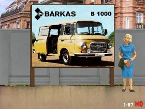1/87 H0 Billboard Barkas B 1000