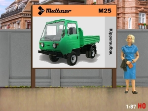 1/87 H0 Billboard Multicar M25