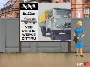 1/87 H0 Billboard Robur Lo 2500